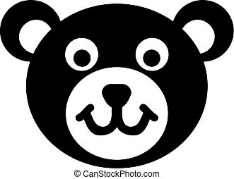 Teddy bear head icon