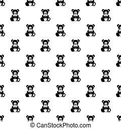 Teddy bear holding a heart pattern vector