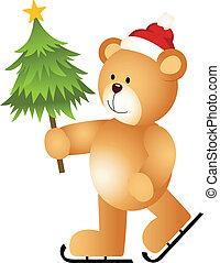 Teddy Bear Ice Skating