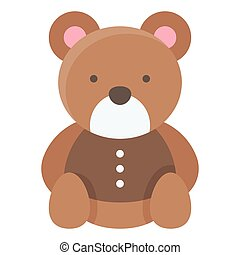 Teddy bear icon, Birthday party related vector illustration