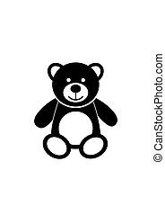 Teddy bear icon character isolated on white background. Soft...