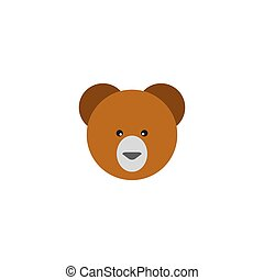 Teddy bear icon flat element. illustration of teddy bear icon flat isolated on clean background for your web mobile app logo design.