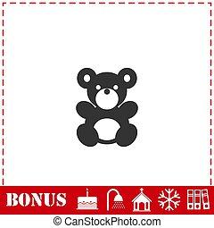 Teddy Bear icon flat