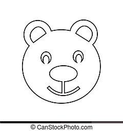 teddy bear icon illustration design