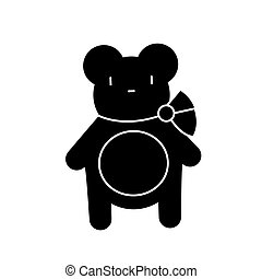 teddy bear icon, vector illustration, sign on isolated background