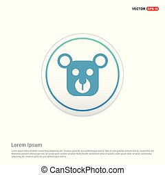 Teddy bear icon - white circle button