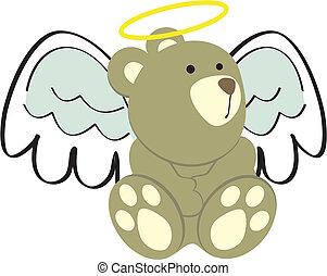 teddy bear in angel fancy in vector format