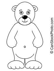 Teddy-bear isolated, contours