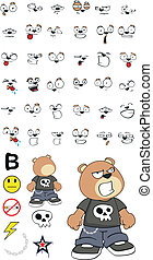teddy bear kid cartoon set2 - teddy bear kid cartoon set in...