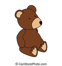 teddy bear kid icon vector illustration