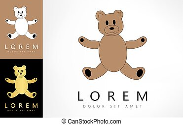 Teddy bear logo. Plush toy.