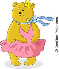 Marylin Monroe - Teddy-bear Marylin Monroe in the pink dress...