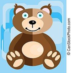 Teddy bear on a blue background