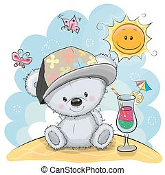 Teddy Bear on the beach