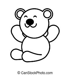 teddy bear on white background, baby toys