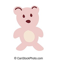 teddy bear on white background