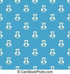 Teddy bear pattern seamless blue