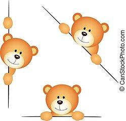 Teddy bear peeking - Scalable vectorial image representing a...