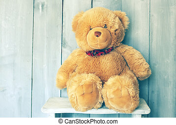 Teddy bear - Vintage photo of Teddy bear toy