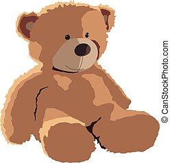 teddy bear realistic vector illustration isolated