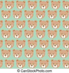 Teddy bear seamless pattern.