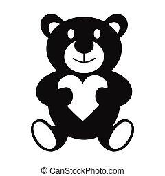 Teddy bear simple icon