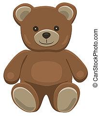 Teddy bear sitting - Basic brown teddy bear in solid colors...