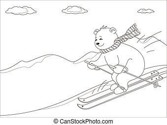 Teddy-bear skies in mountains, contours - Teddy-bear slides ...