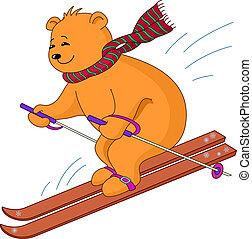 Teddy-bear skies - Teddy-bear goes for a drive on the...