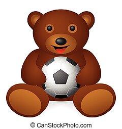 bear soccer ball
