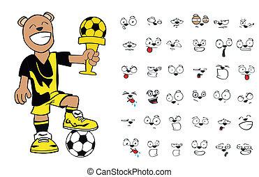 teddy bear soccer cartoon12