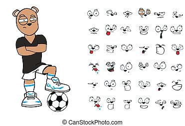 teddy bear soccer cartoon2