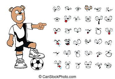 teddy bear soccer cartoon5