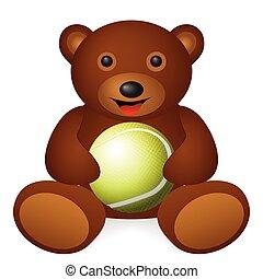 bear tennis ball