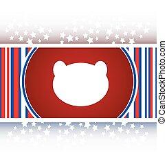 Teddy Bear Toy Head web icon isolated on white vector