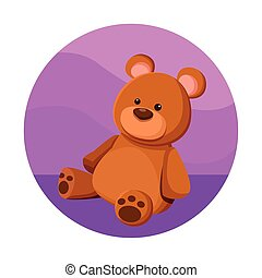 teddy bear toy icon cartoon