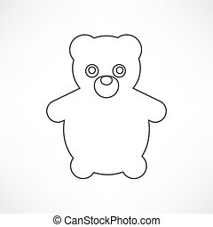 Teddy Bear Toy - icon isolated