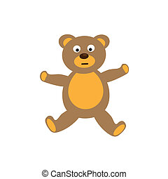 Teddy bear toy on white background