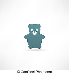 Teddy Bear Toy - Vector icon isolated