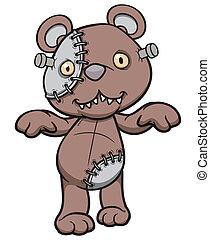 Teddy bear - Vector illustration of Evil teddy bear