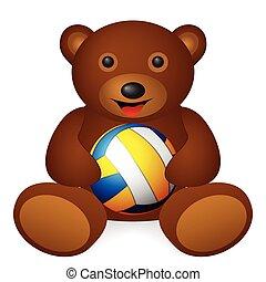 bear volleyball ball