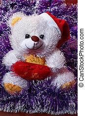 Teddy bear waiting for Santa