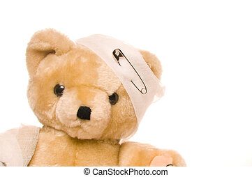 Teddy bear with bandage - Teddy Bear with bandage