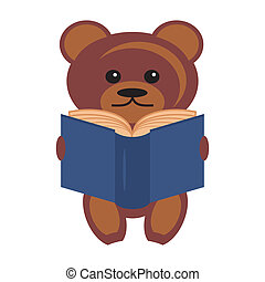 teddy bear with book