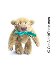 Teddy Bear with bow isolated on white