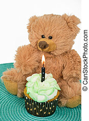 teddy bear with cupcake
