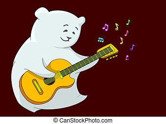 Teddy bear with guitar