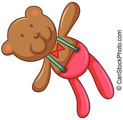 Teddy bear with happy face