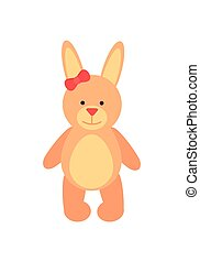 Teddy Bear with Long Ears Vector Illustration