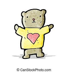 teddy bear with love heart cartoon